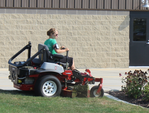 Exmark zero-turn mowers are used on all our properties.